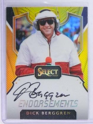 SOLD 21343 2017 Panini Select Endorsements Dick Berggren Autograph Gold #D6/10 *74138