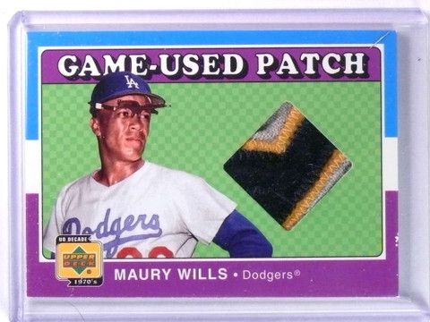 2001 Upper Deck Decade Game-Used Patch Maury Wills 3clr Patch #PMW *75270