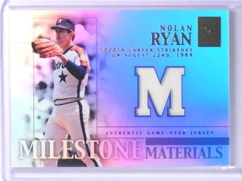 2002 Topps Tribute Milestone Materials Nolan Ryan Jersey #MIMNR *75565