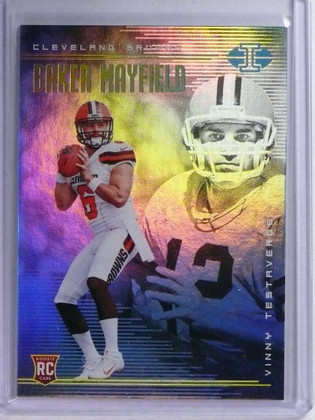 2018 Panini Illusions Baker Mayfield w/ Testaverde Rookie RC #2 *76291
