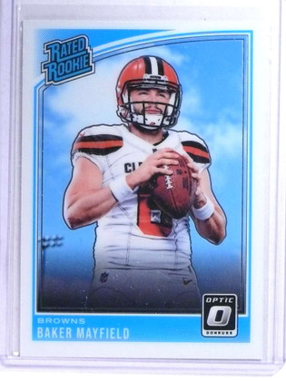 SOLD 23785 2018 Panini Donruss Optic Baker Mayfield Rookie RC #153 *76295