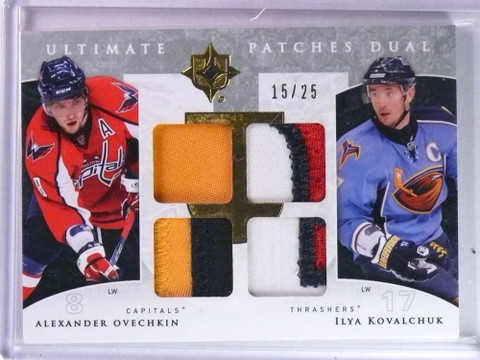 2009-10 Ultimate Collection Alexander Ovechkin Kovalchuk dual patch #D/25 *76661