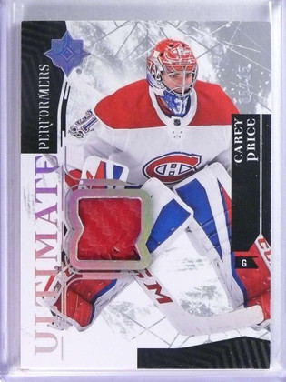 2017-18 Ultimate Collection Performers Carey Price Glove #D05/25 #UP-CP *76712
