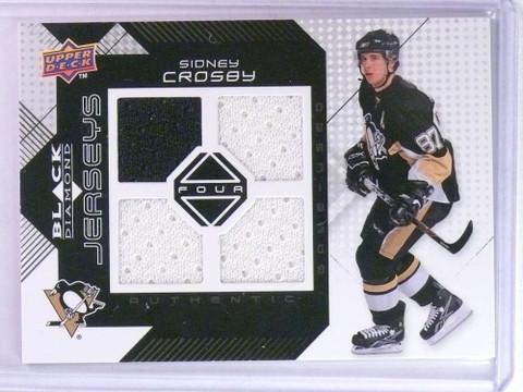 2008-09 Upper Deck Black Dimonad Sidney Crosby quad jersey #BDJ-SC *76716