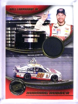 DELETE 23941 2015 Press Pass Burning Rubber Dale Earnhard Jr. Race-Used Victory Tire *76708
