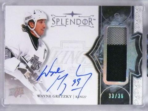2017-18 Upper Deck Splendor Wayne Gretzky autograph auto patch #D33/36 *76774