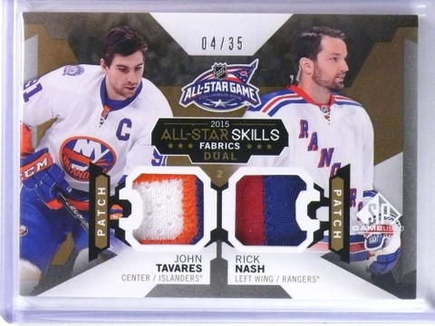 2015-16 Sp Game Used All-Star John Tavares Rick Nash dual patch #D04/35 *76727