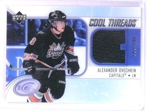 SOLD 24057 2005-06 Upper Deck Ice Cool Threads Alex Ovechkin rookie jersey #D47/100 *76736