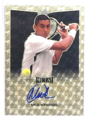 2016 Leaf Metal Tennis Gold Prismatic Nick Kyrgios autograph auto #D 1/1 *76792