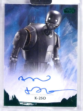 2018 Topps Star Wars Stellar Signatures Alan Tudyk as K-2SO autograph #/20 *76794