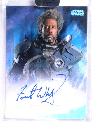 2018 Topps Star Wars Stellar Forest Whitaker as Saw Gerrera autograph /40 *76805
