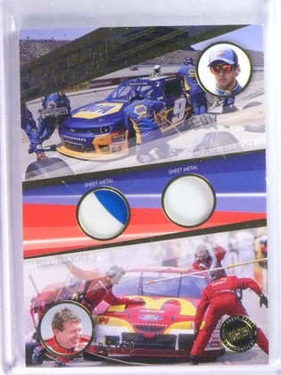 2014 Press Pass Pit Road Pieces Chase Bill Elliott dual sheet meal #D24/50 *76726