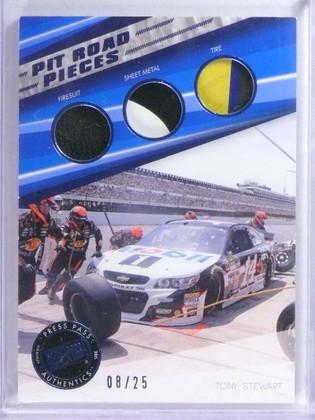 2015 Press Pass Pit Road Pieces Tony Stewart firesuit Metal Tire #D08/25 *76839