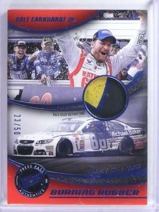 2015 Press Pass Burning Rubber Victory Dale Earnhardt Jr. tire #D23/50 *76840