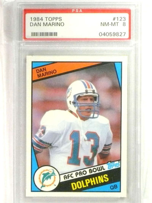 1984 Topps Dan Marino rc rookie #123 PSA 8 NM-MT Centered *76903