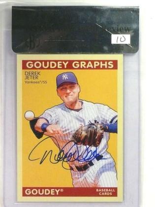 2009 Upper Deck Goudey Graphs Derek Jeter autograph auto BGS 9 SP! *76874