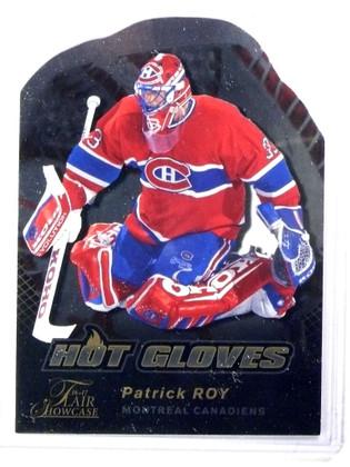 2016-17 Flair Showcase Hot Gloves Patrick Roy #HG1 Canadiens *77881