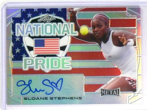 SOLD 25263 2016 Leaf Metal National Pride USA Sloane Stephens Autograph auto #NPSS1 *77808