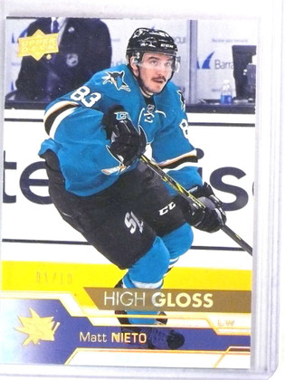 2016-17 Upper Deck Series 2 High Gloss HG Matt Nieto #D01/10 #407 *78076