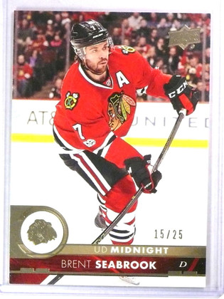 2017-18 Upper Deck Series 1 Midnight Parallel Brent Seabrook #D15/25 #39 *78093