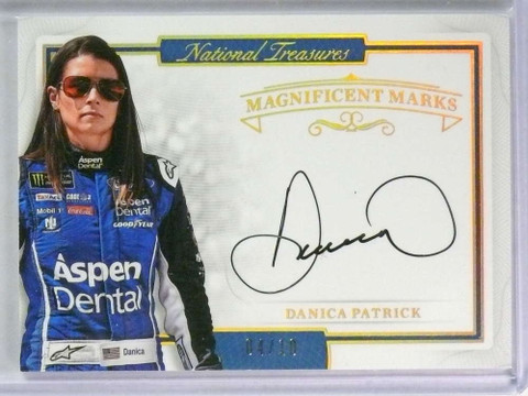 2017 National Treasures Magnificent Marks Danica Patrick autograph #D04/10 *78373