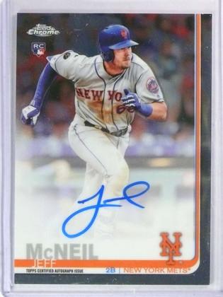 2019 Topps Chrome Jeff Mcneil autograph auto rc rookie #RA-JM Mets *78540