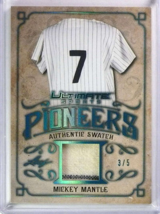 2019 Leaf Ultimate Sports Pioneers Mickey Mantle jersey #D3/5 #UP-07 *78474