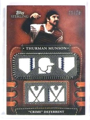 2010 Topps Sterling Thurman Munson 5 piece jersey #D21/25 #5LLR-48 *78546