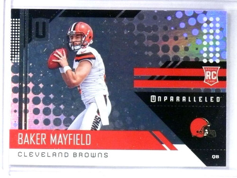 2018 Panini Unparalleled Baker Mayfield rc rookie #208 *81009