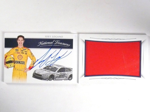 2016 National Treasures Joey Logano Sheet Metal Autograph #D41/50 #JL *63966