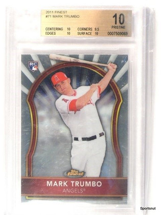 2011 Topps Finest Mark Trumbo rc rookie #71 BGS 10 Pristine *42881