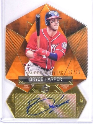 SOLD 11271 2014 Topps Supreme Styling Bryce Harper autograph auto #D12/15 #SS-BH *56328
