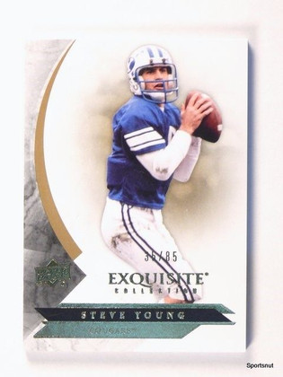 2012 Upper Deck Exquisite Steve Young BYU Base Card #d35/85 #35  *44056