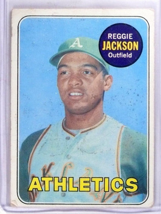 1969 Topps Reggie Jackson rc rookie #260 GOOD *57374