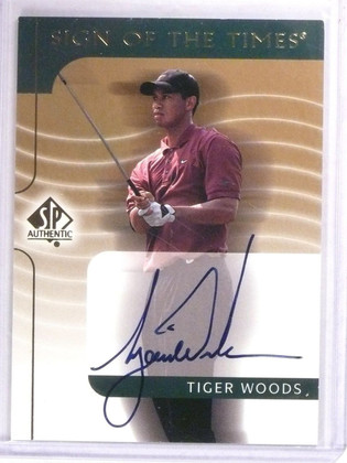 DELETE 11547 2003 Sp Authentic Sign Of The Times Tiger Woods autograph auto #TW *56325