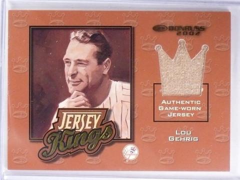 2002 Doruss Jersey Kings Lou Gehrig Game Worn jersey #D35/125 #JK-15 *57748