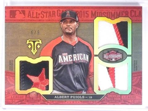 2016 Topps Triple Threads Albert Pujols Triple All-Star Patch #D6/9  *57791