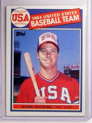 SOLD 4814 1985 Topps Mark McGwire Olympic Rookie RC #401 *66955