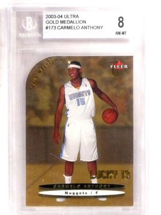 SOLD 8365 2003-04 Ultra Gold Medallion Carmelo Anthony Rookie RC #173 BGS 8 NM-MT *66727