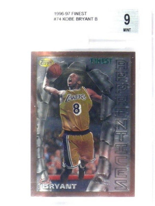 SOLD 11851 96-97 Topps Finest Kobe Bryant rc rookie #74 BGS 9 MINT *35931