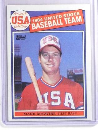 1985 Topps Mark McGwire XRC Rookie RC Olympics #401 *66509