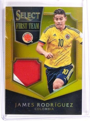 2015 Panini Select Soccer First Team Gold James Rodriguez jersey #D09/10 *53451