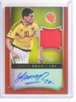 2015 Panini Select Soccer James Rodriguez autograph auto jersey #D11/15 *53357