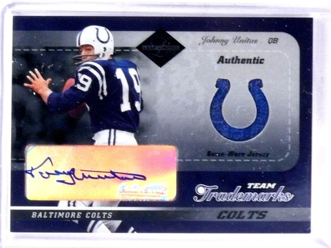 2003 Leaf Limited Team Trademarks Johnny Unitas autograph auto jersey #D1/5 *573