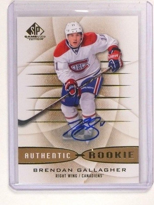 SOLD 1745 13-14 SP Game Used Brendan Gallagher Autograph Auto Rookie RC #181 *44866