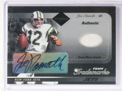2003 Leaf Limited Team Trademarks Joe Namath autograph jersey #D19/50 *48672