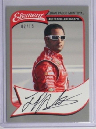 2011 Press Pass Element Juan Pablo Montoya auto autograph #D02/15 *32088