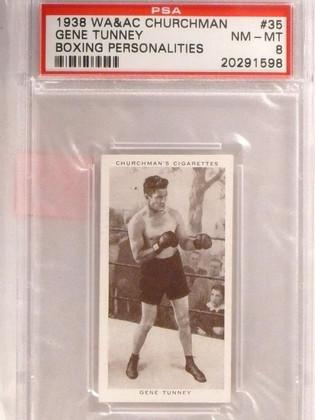 SOLD 9225 1938 Churchman's Cigarettes Boxing Gene Tunney #35 PSA 8 *67415