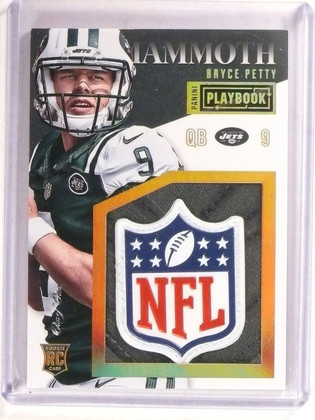 2015 Panini Playbook Mammoth Bryce Petty rookie NFL Shield Patch 1/1 *67371