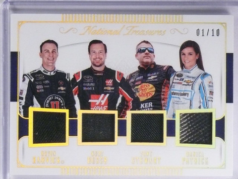 SOLD 5723 2016 National Treasures Danica Stewart Busch Harvick Quad Relic #D01/10 *65249